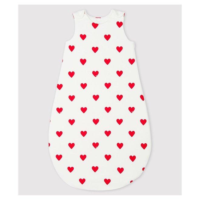 BABIES' RED HEART PATTERN COTTON SLEEPING BAG