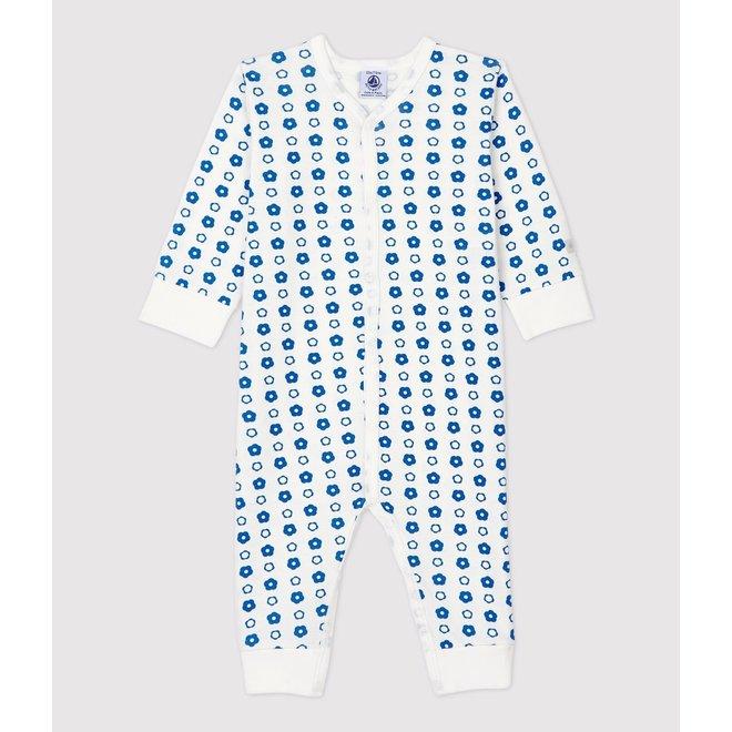 BABIES' RETRO FLORAL FOOTLESS ORGANIC COTTON SLEEPSUIT