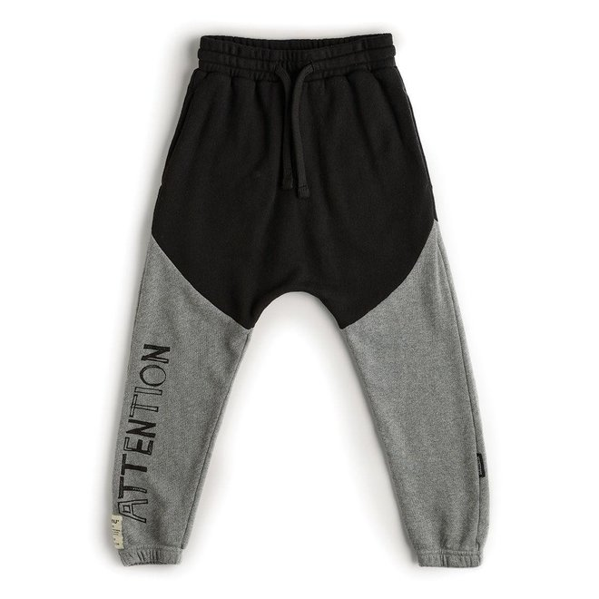 DIVISION BAGGY PANTS BLACK/DUSTY HEATHER GREY