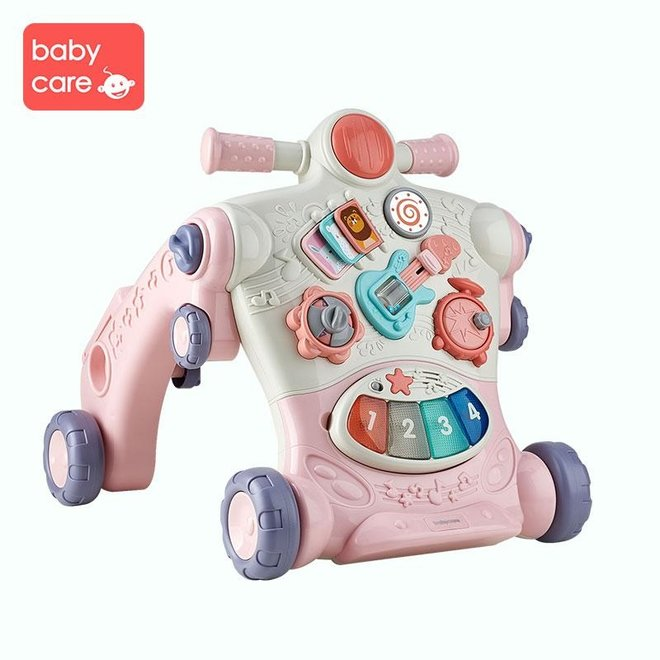 BC BABYCARE 3-IN-1 WALKING LEARNING TOY PINK