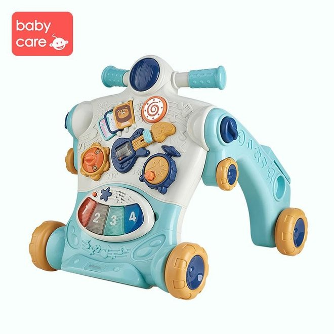 BC BABYCARE 3-IN-1 WALKING LEARNING TOY BLUE