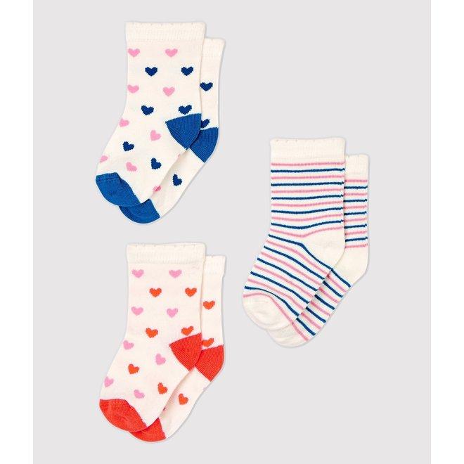 BABIES' SOCKS HEART - 3-PACK