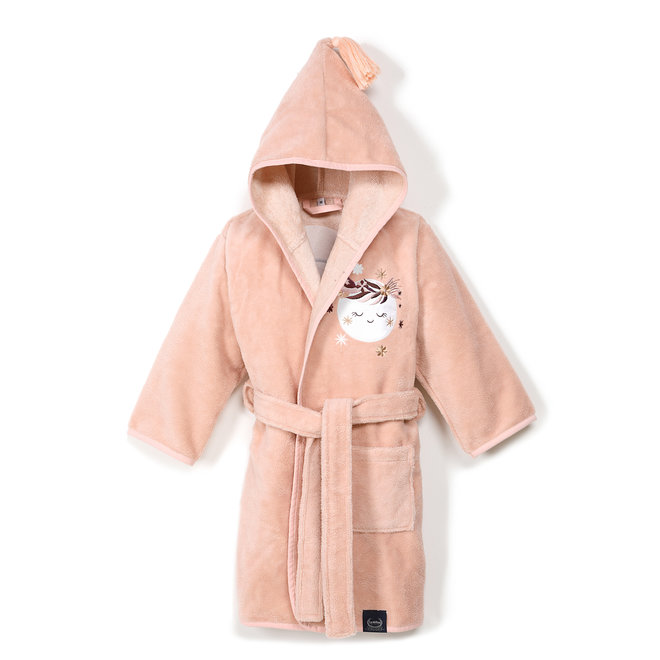 BATHROBE BAMBOO SOFT - BY WHATANNAWEARS - POWDER PINK - FLY ME TO THE MOON NUDE