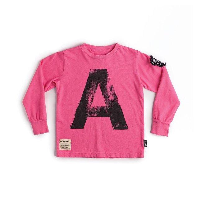 """""""A"""" SHIRT HOT PINK"""