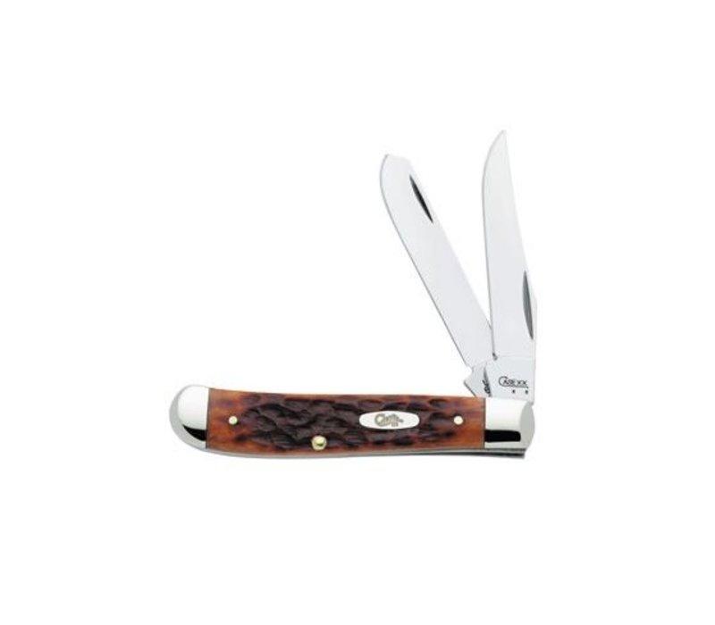 CA7012--Case,  Mini Trapper, Chestnut Bone, CV Carbon Steel