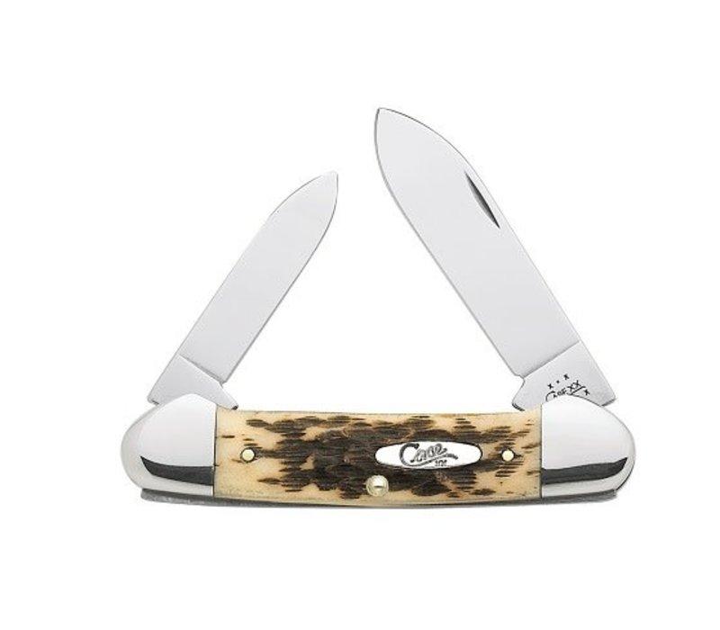 CA263--Case, Canoe Amber Bone w/ CV Blades