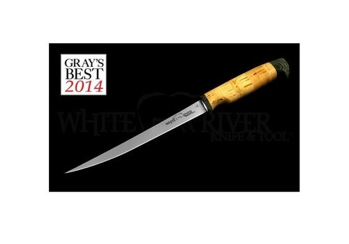 """White River Knife & Tool WRF8-CRK--White River, Traditional Fillet w/ 8.5"""" 440C Stainless Blade and Cork Handle, Floats"""