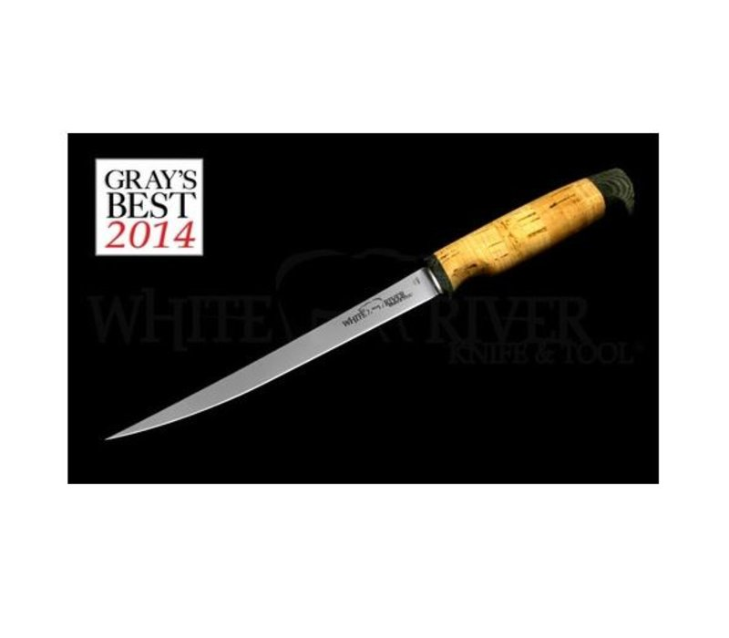 """WRF8-CRK--White River, Traditional Fillet w/ 8.5"""" 440C Stainless Blade and Cork Handle, Floats"""