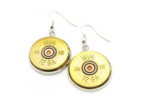Lucky Shot LSE-12--Lucky Shot, Real Bullet Dangle Earrings (12 Gauge)