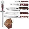 Victorinox 46054 - Victorinox Cutlery 7 Piece Block Set - Rosewood Handles - Hardwood 802