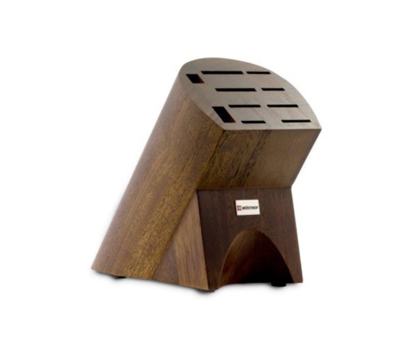 (Discontinued) 7310--Wusthof, 10 Slot Knife Block in Burmese Walnut #31