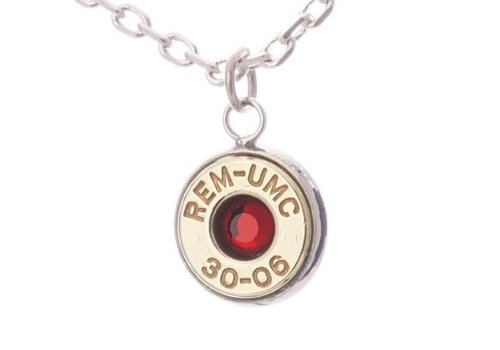 Lucky Shot LSP-3006R--Lucky Shot - Real Bullet Pendant - Ruby - (30.06)