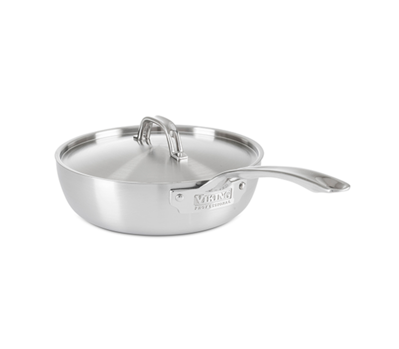40061-1823-STN--Viking Professional 5 Ply 3.0 Qt, 2.8 l., Saucier, Satin Finish