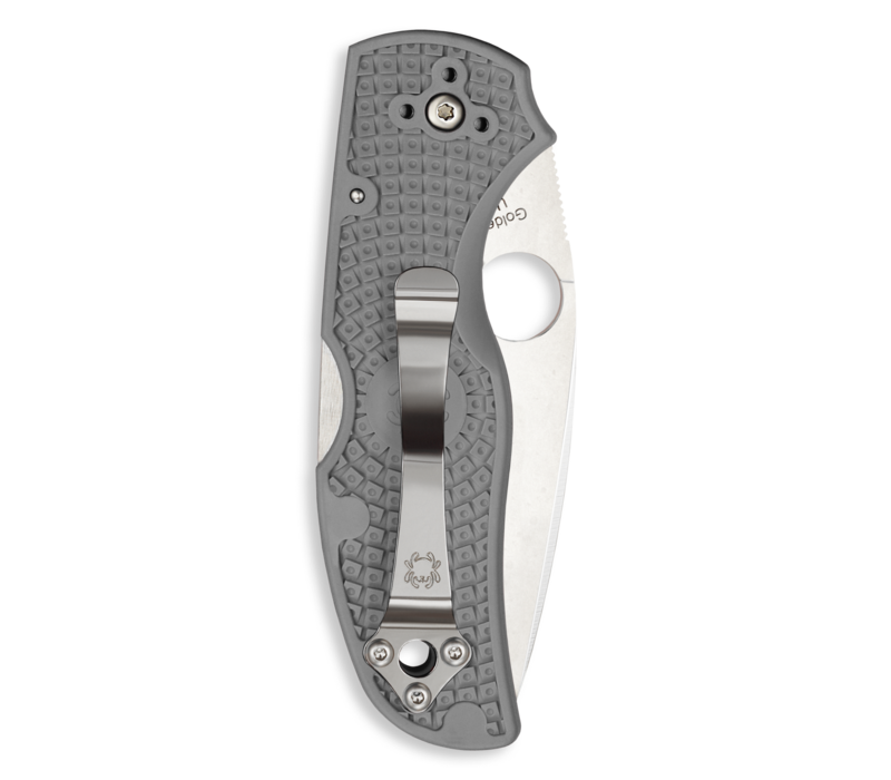 C41PGY5--Spyderco, Native 5 w/ Gray FRN Handle and Micro-Melt Maxamet Blade