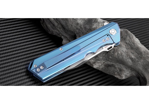 Artisan 1703G-BU--Artisan, Littoral, Blue Titanium, S35VN Steel