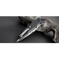 "1706-CF--Artisan, Predator, Carbon Fiber Handle w/ 4"" CPM-S35VN Powdered Steel Blade"