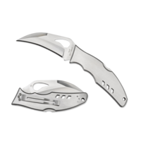 BY07P--Spyderco, Byrd Crossbill w/ Stainless Handle and 8Cr13MoV Stainless Blade