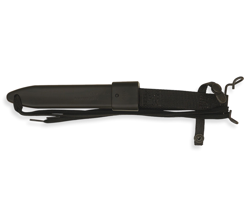 6277--Ontario, M7-B Bayonet w/ Modified Kraton Handle and 1075 High Carbon Steel and Molded Plastic Sheath