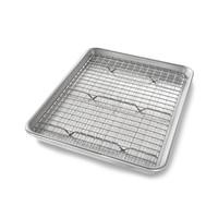 1604CR--USA PAN, Quarter Sheet P- 12 1/2 x 9 x 1 R- 12x 8 1/4 x 1/2