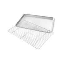 1606CR--USA PAN, Half Sheet Pan & Baking Rack Set P-17 1/4 x 12 1/4 x 1 R- 16 3/4 x 11 1/2 x 1/2