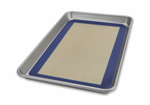 USA Pan 1706MT--USAPan, Half Sheet Pan & Baking Mat Set P- 17 1/4 x 12 1/4 x 1