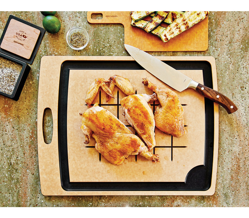 "005-20150102--Epicurean, CS Medium Nat/Slt Cutting Board - 19.5"" x 15"""
