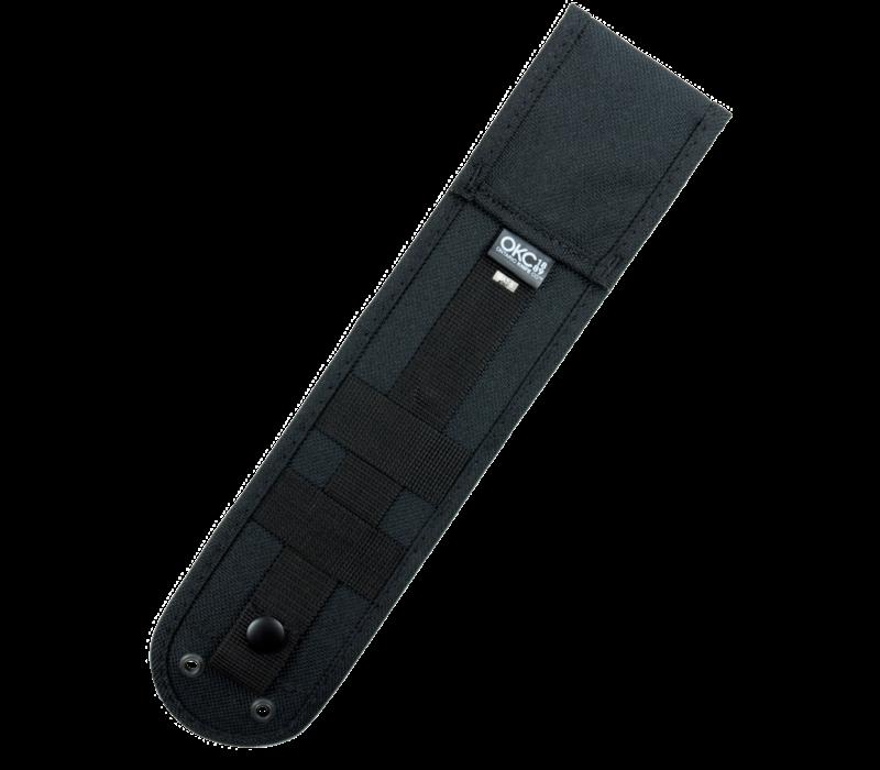 8667--Ontario, Rat-5 w/ Micarta Handle and 1095 Carbon Steel Black Blade w/ Nylon Sheath