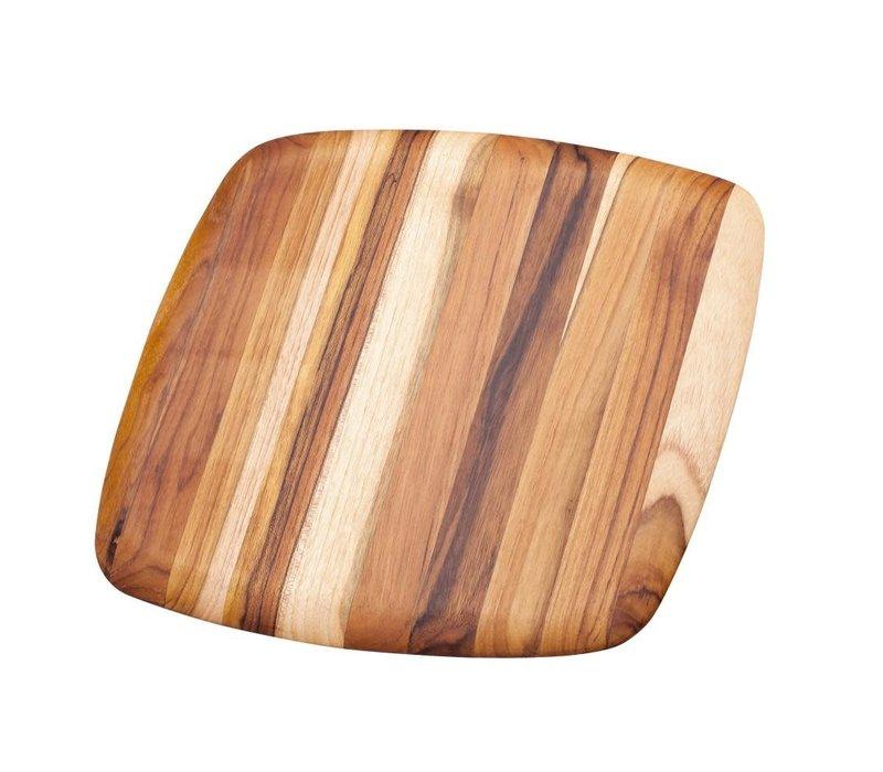 206--TeakHaus, Elegant Collection - Square Edge Grain, Gently Rounded Edge - 16x16x0.55