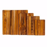 404--TeakHaus, Essential Collection - Rectangle - Cutting/Serving - 15.75x11x0.55