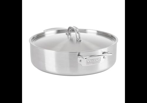 Clipper Corp/Viking 4015-1064CS--Viking Proffessional 5-Ply 6.4Qt. 6.0L Casserole Pan, Satin Finish