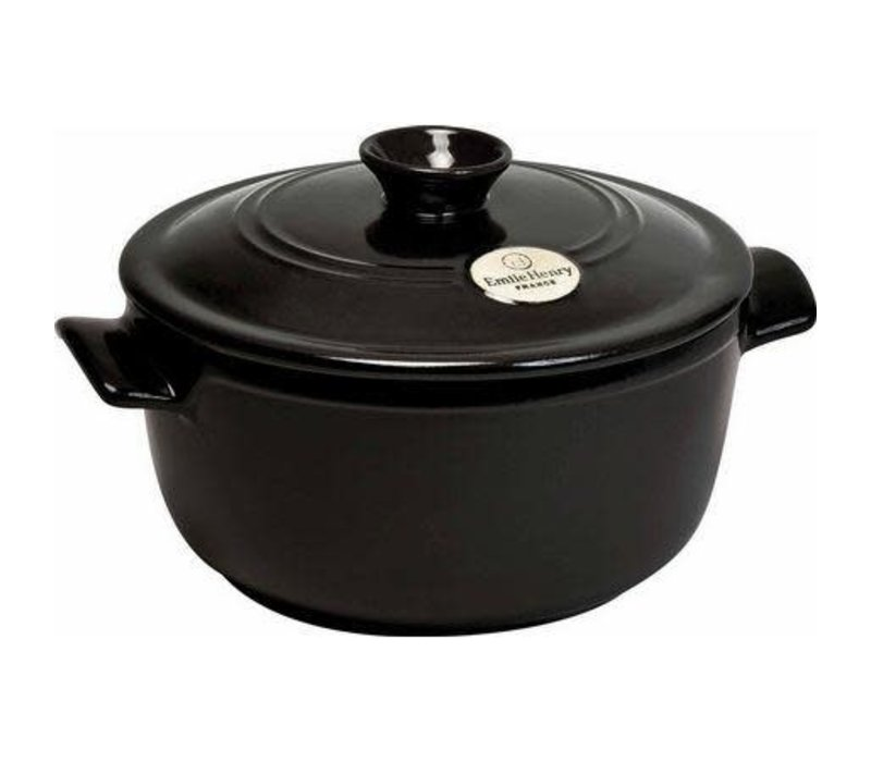 794553--Emile Henry, Dutch Oven 5.5 Qt. (Charcoal)