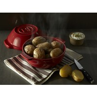 "345500--Emile Henry, Potato/Bread Pot 9.5"" 2.1Qt. (Burgundy)"