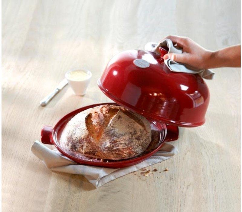 345508--Emile Henry, Bread Cloche (Burgandy)