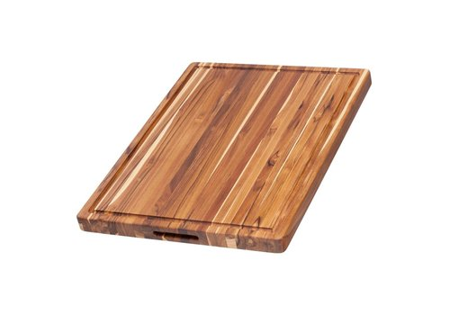 Teak Haus 109--TeakHaus, Edge Grain Traditional - Hand Grips & Juice Canal - Rectangle - 20x15x1.5