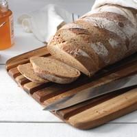 409--TeakHaus, Edge Grain Essential Collection - Rectangle - Bread Board - 16x11x0.55