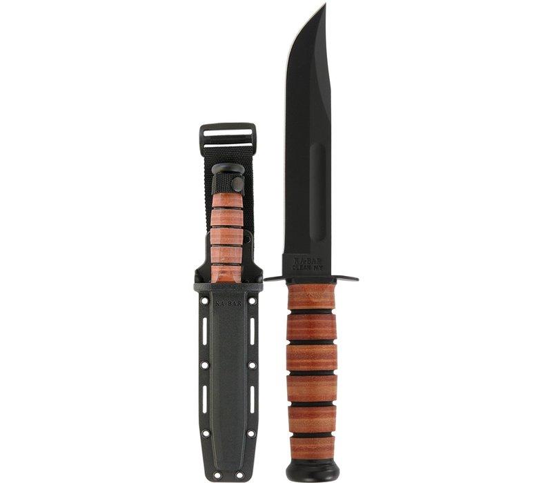 "KA5017--Ka-Bar, USMC Fighting Knife w/  7"" black epoxy powder coated carbon steel blade"