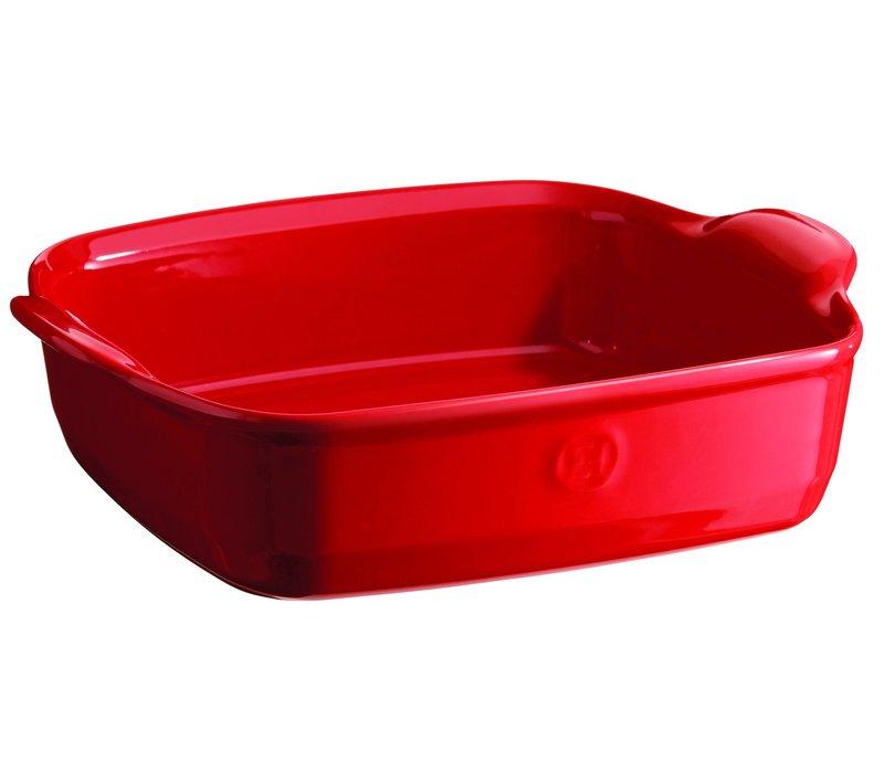 "342050--Emile Henry, Ultimate Square Baking Dish, 11"" 2.2 Qrt. (Burgandy)"