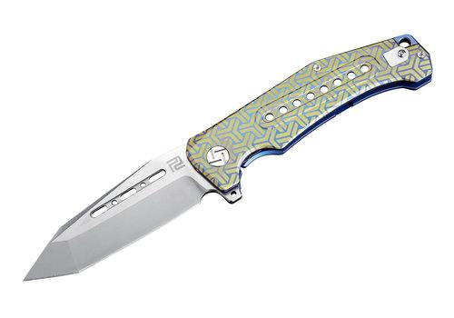 Artisan 1705G-BU02--Artisan, Jungle, Blue Titanium, S35VN  Steel