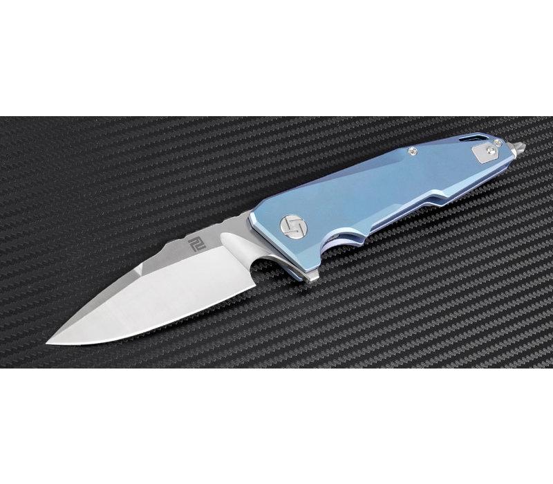 1706G-BU--Artisan, Predator, Blue Titanium, S35VN Steel