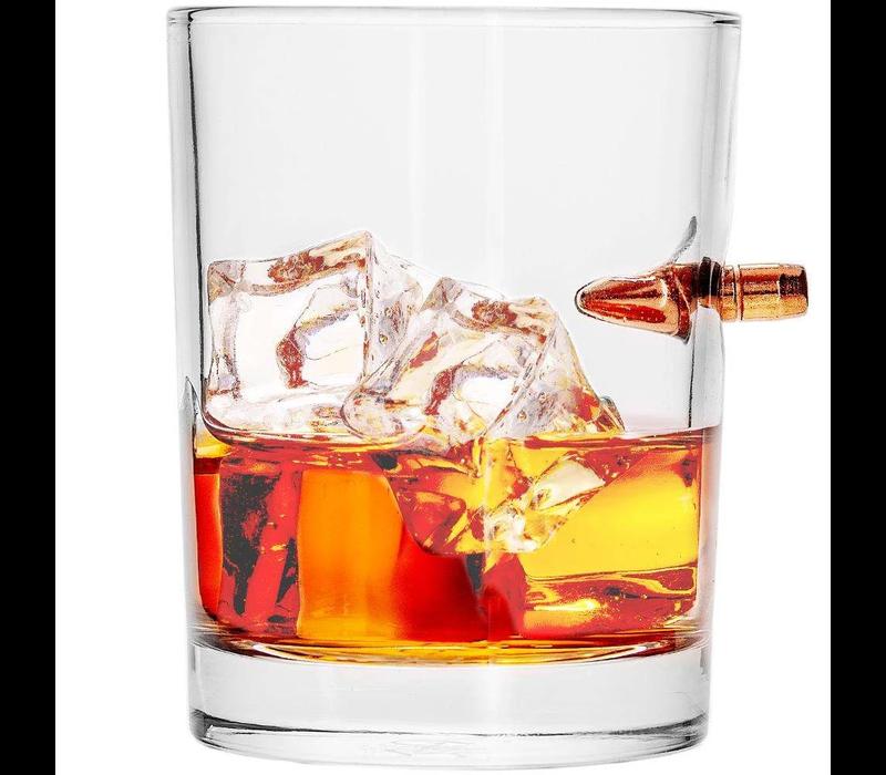 LSBWG-308--Lucky Shot, Bulletproof Whiskey Glass (.308)