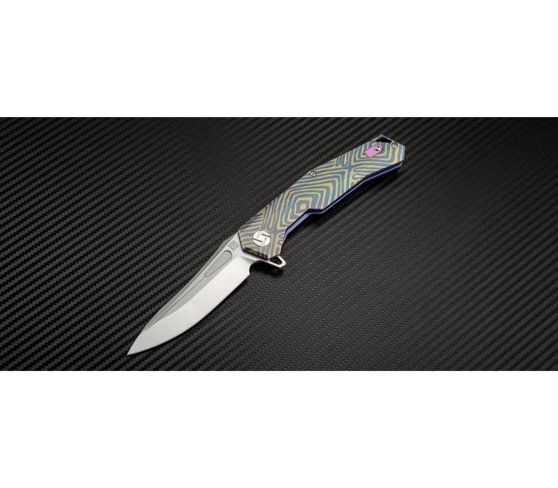 1808G-BU03--Artisan, Zumwalt, Blue Titanium, S35VN  Steel