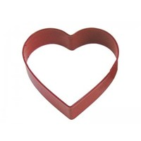 """1154/RS--R&M, Heart CC 4"""" Red (single)"""