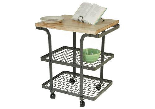 Enclume BC2AHS-Enclume, Rectangle Bakers Cart HS w/ Eastern Maple Butcher Block