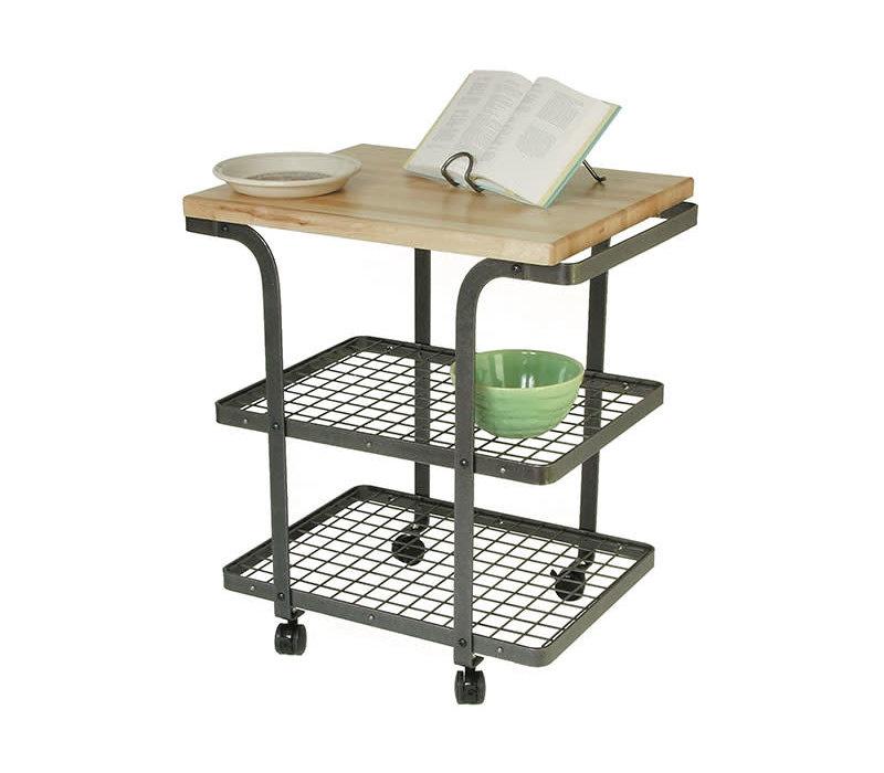 BC2AHS-Enclume, Rectangle Bakers Cart HS w/ Eastern Maple Butcher Block