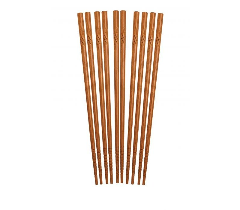 "97027--HIC, Bamboo Engraved Chopsticks 9"", Five Pairs"