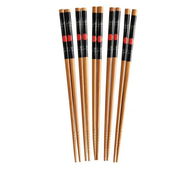 """97138--HIC, Sushi Stix Chopsticks Bamboo, 9"""", 5 pairs"""