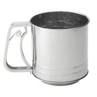 703--HIC, Stainless Steel Sifter 5 Cup Squeeze