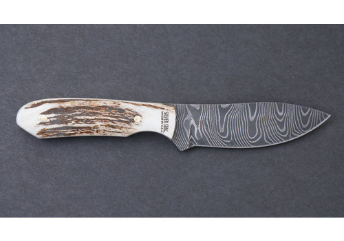 Silver Stag DST2.7--Silver Stag, Stag Twist - Damascus Series - 1095 Carbon