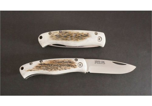 """Silver Stag FLLL3.0--SilverStag, Liner Lock """"Lion"""" - D2 with Antler Handle"""