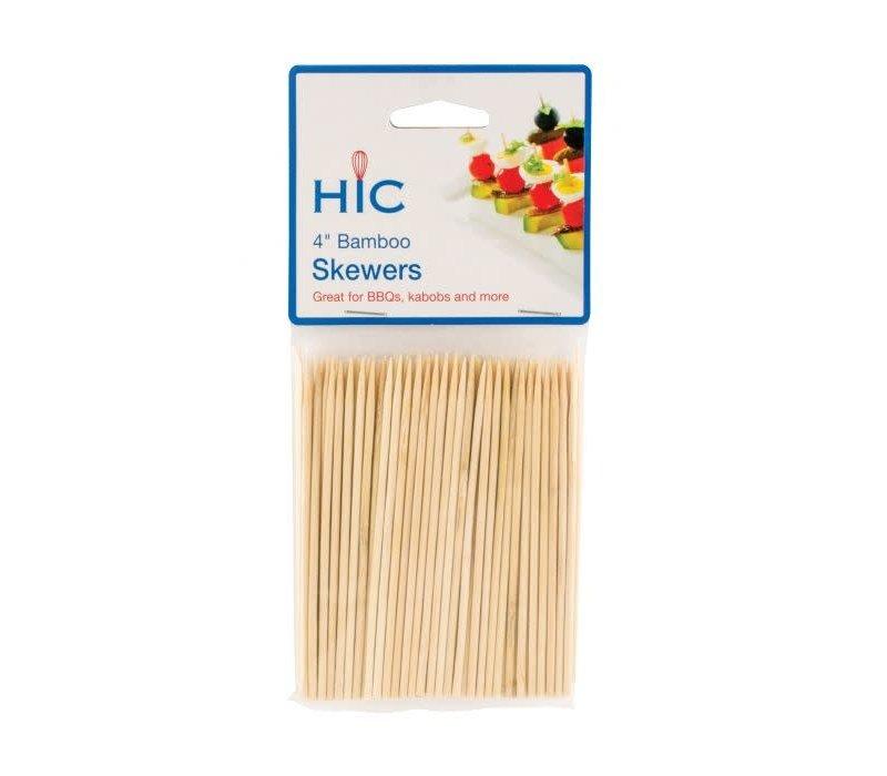 "4418-- HIC, Skewers Bamboo 4"""